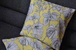 Poszewka - kwiaty na żółtym tle