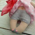 ANIOŁEK lalka - dekoracja tekstylna, OOAK /07