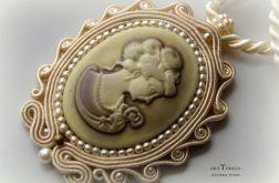 medalion sutasz kamea wiktoriański, styl vintage na prezent