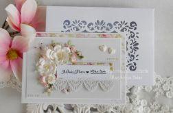 Ślubna kartka A5 w pudełku z okienkiem 17