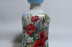 Mała butelka z motywem łąki