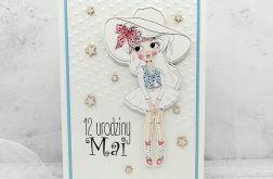 Kartka z dziewczynką w kapeluszu UDP 022