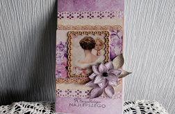 Kartka w delikatnych fioletach