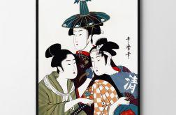 Plakat obraz Azjatyckie Trio 50X70 B2