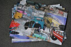 4 podkładki pod talerze - auta retro