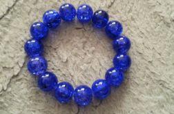 Bransoletka z koralików Crackle niebieska