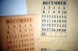 December - kartka z kalendarza