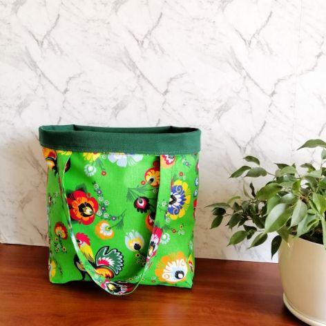 Torebka,torba damska na zakupy,zielony folk.
