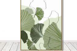 Miłorząb, liście - grafika autorska