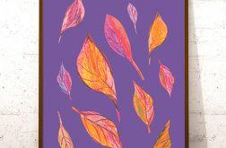 30x40 kolorowa grafika do domu - jesień