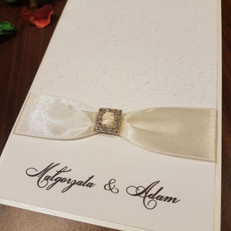 Kartka ślubna z tłoczonym wzorem