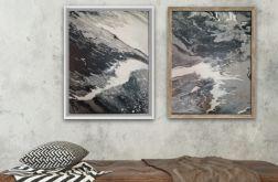 Obraz x2 ręcznie malowany płótno 50cm x 45cm