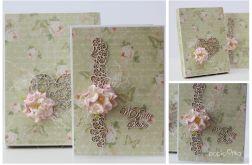 Kartka z pudełkiem zestaw ślubny C1