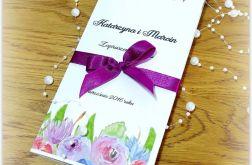Zaproszenie Akwarela Kwiaty Róż