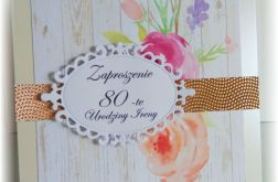 Zaproszenia urodzinowe dla kobiety 40 50 60
