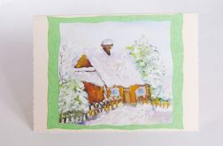Kartka zimowy pejzażyk nr 18