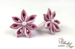 Gumka do włosów różowo - białe