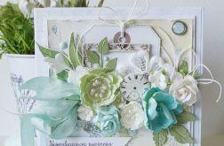 """Kartka w pudełku """"Najpiękniejsze życzenia"""""""