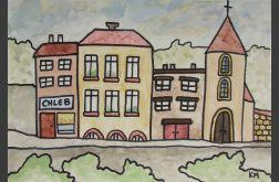"""obraz z serii """"domki"""" nr 11"""