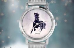 Zegarek, bransoletka - Czarny koń
