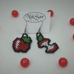 Kolczyki jabłka