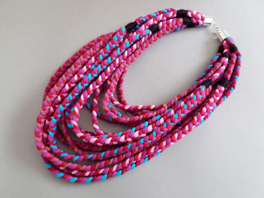 UNIKAT naszyjnik ECOetnica masajka 022 kolor