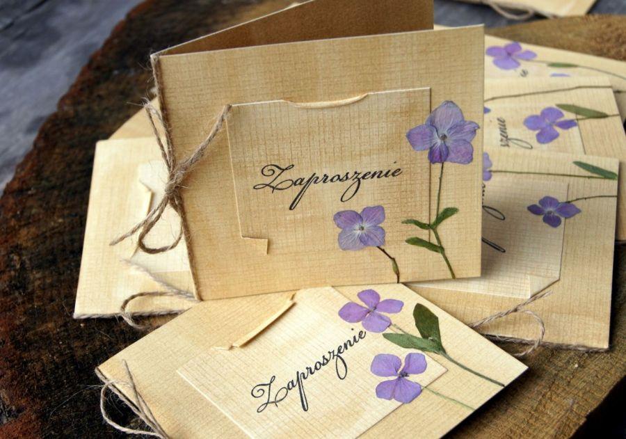 Zaproszenie ślubne hortensje zaproszenia