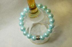 46. Bransoleta z pereł szklanych 10mm