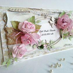 Kartka ślubna WZÓR pudełko w komplecie)