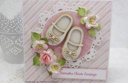 Malutkie buciki - kartka z pudełkiem