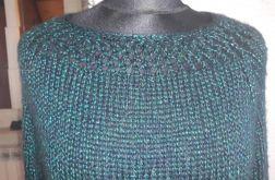 sweter wełna z wiskozą błyszcząc nitka ażur