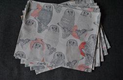 Podkładki pod talerze - sowy
