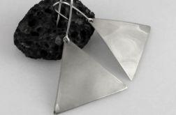 Trójkąty - srebrne kolczyki 191029-01