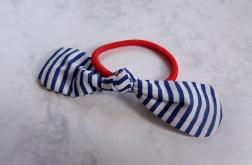 Gumka do włosów marynarskie pasy - Fabricate