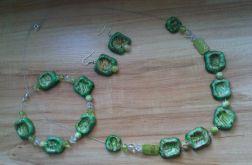 Naszyjnik-zielone kamyczki
