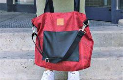 Torba typu shopper Mili Chic MC6 - czerwona