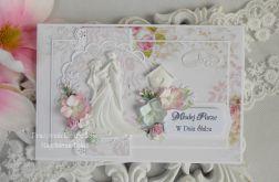 Ślubna kartka A5 w kopercie 14