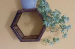 półka heksagon plaster miodu