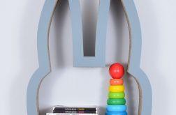 Półka na książki zabawki KRÓLIK | szary