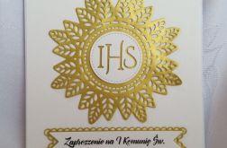 Zaproszenie I Komunia wzór 120