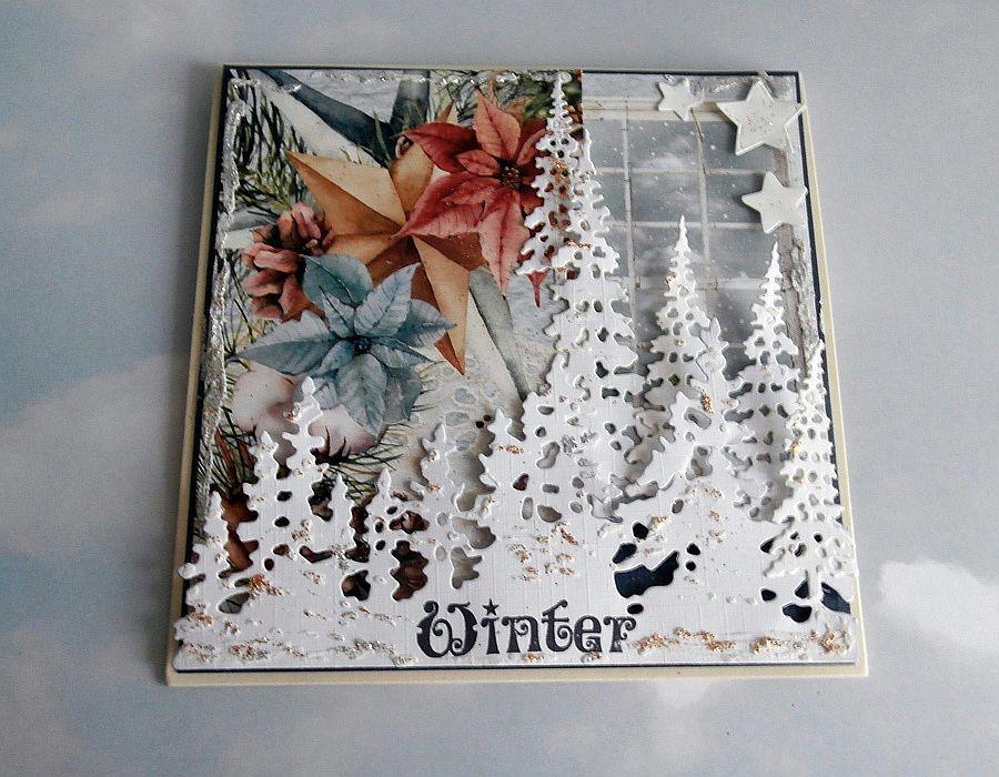 Kartka zimowa - Kartka złozona