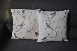 Poszewka dekoracyjna - ptaszki, shabby chic