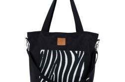 Torba typu shopper Mili Chic MC6 - zebra