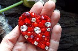 Brosza Czerwone serce