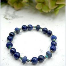 Bransoletka z lapisu lazuli i turkusu