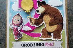Kartka urodzinowa Masza i Niedźwiedź UDP 033