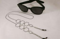 Łańcuszek do okularów stal i koraliki