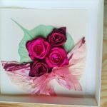 Kartka  z różami - kartka bordowe róze