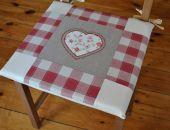 Poduszki na krzesła, siedziska - rustykalne 4 szt.