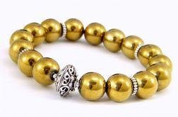 Złoty hematyt - bransoletka
